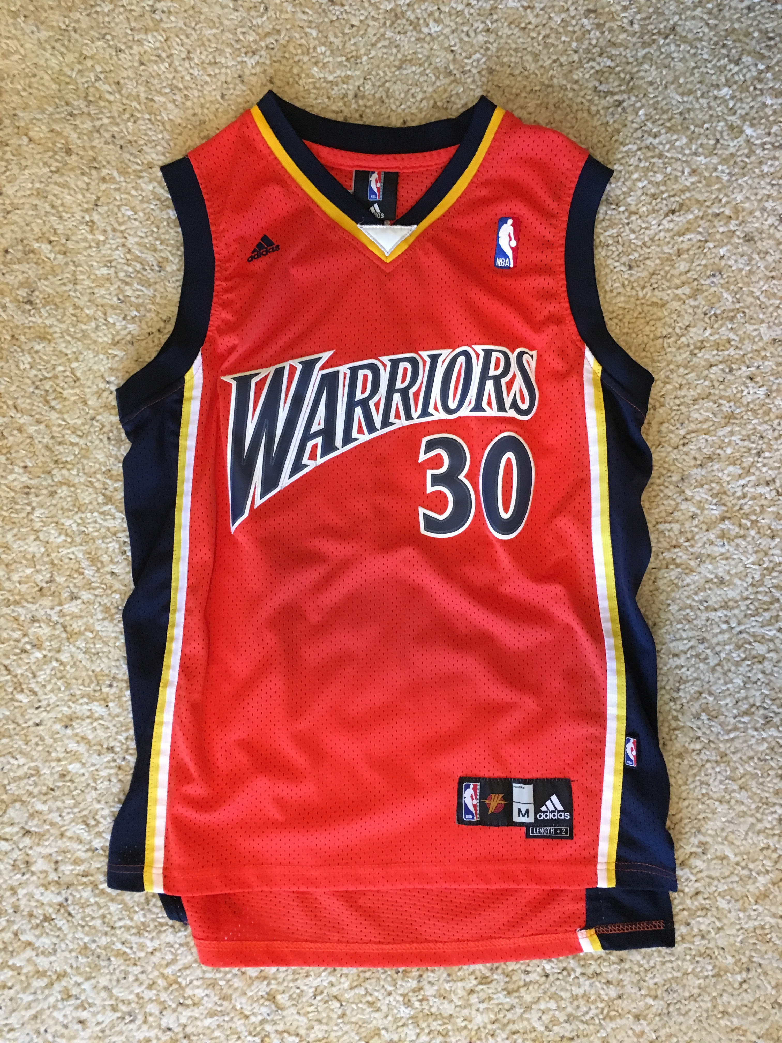 pretty nice 64b02 2d746 Stephen Curry Retro Throwback GSW Jersey