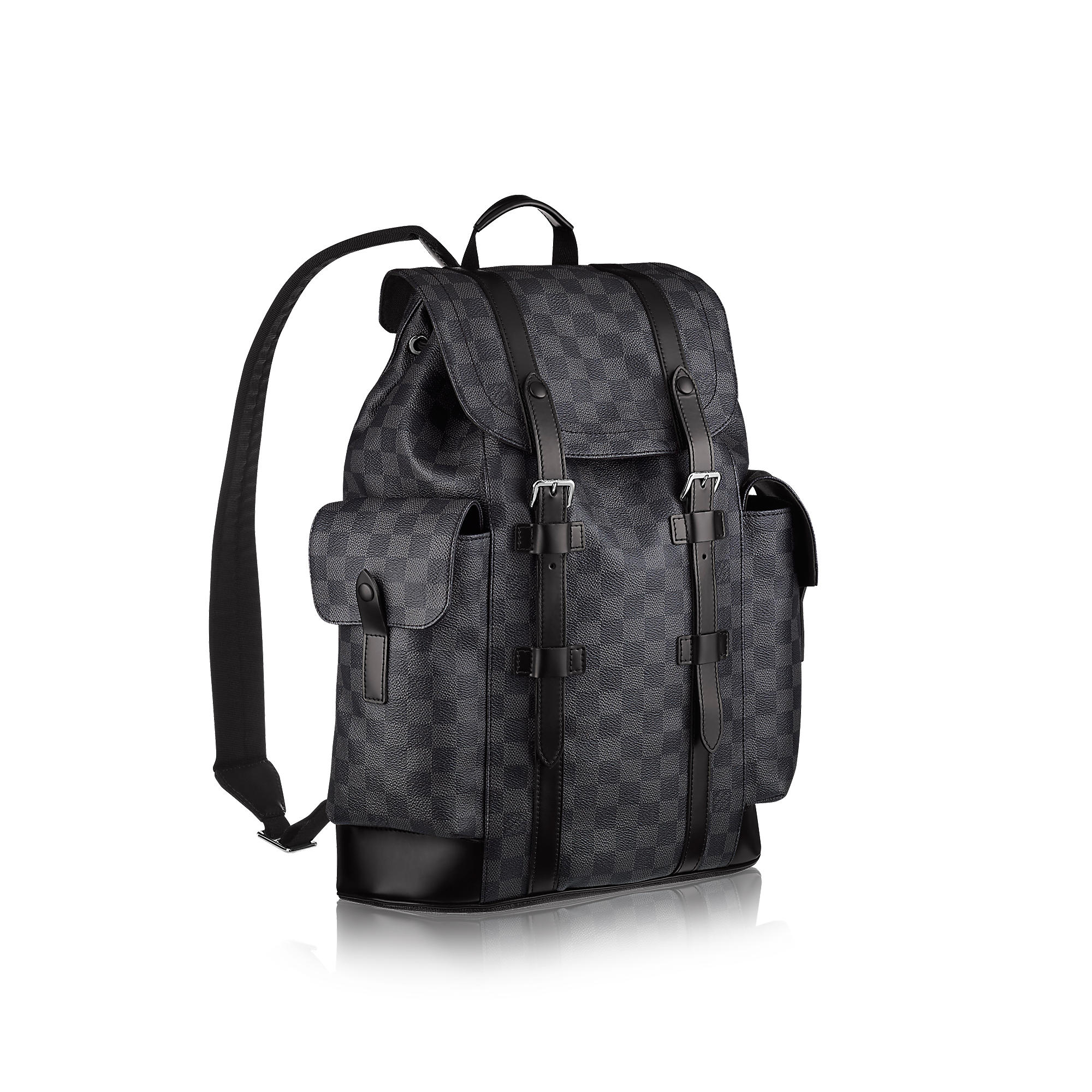 964702cfef7 Christopher PM Backpack Black Damier Graphite