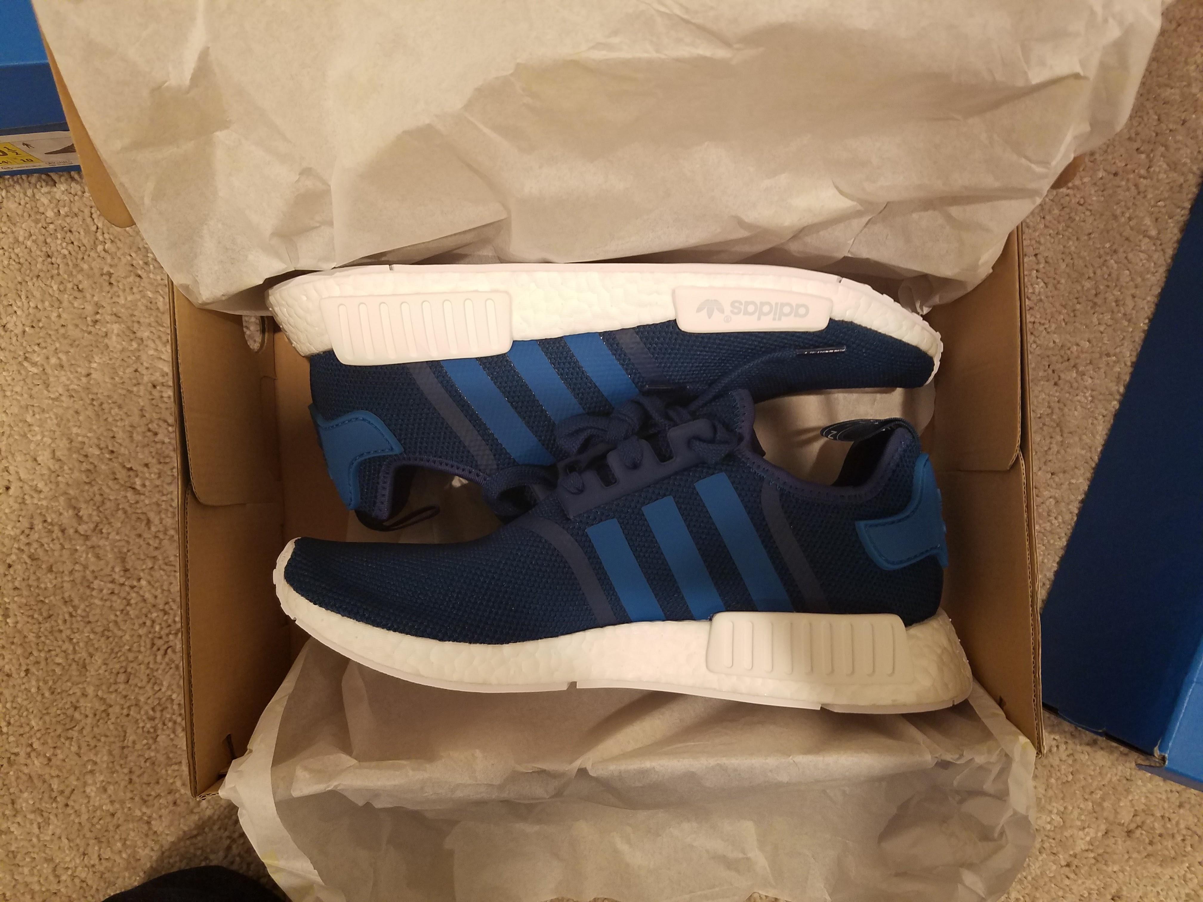 b6b8804ae Adidas Adidas Nmd R1 Mesh S31502 (tech Steel uni Blue white) Men s Shoes Sz  10.5