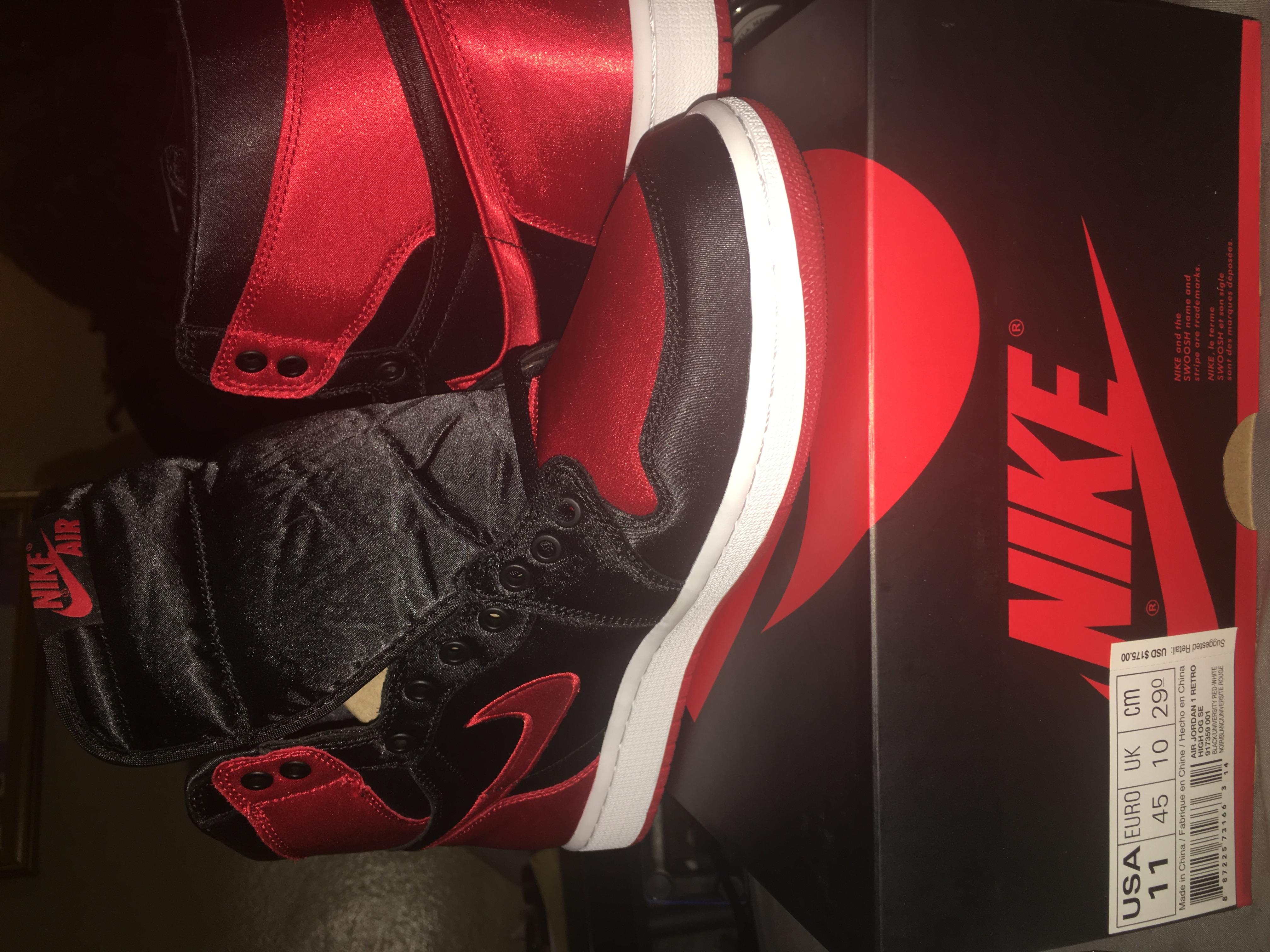 7ad0103ea47 Nike Nike Air Jordan 1 Satin Banned Bred Retro Size 11   Grailed