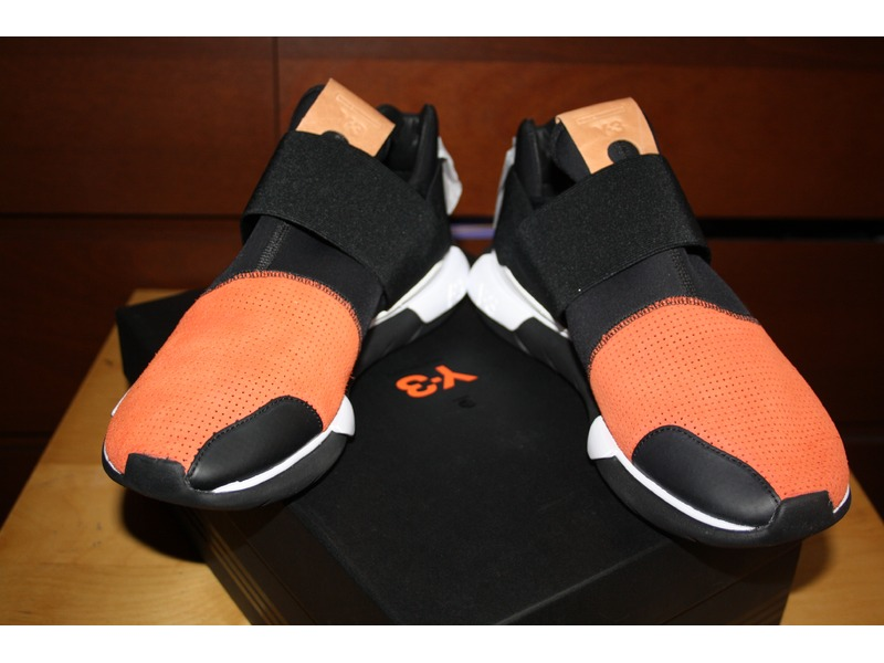 2e7ccf9f1 Y-3 Y3 Qasa Low II Black Orange Size 10 - Low-Top Sneakers for Sale -  Grailed