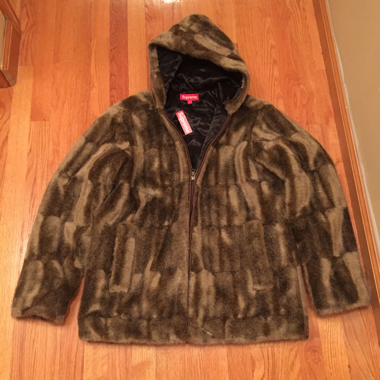 c41d727cefe4 Supreme Faux Fur Hooded Zip Jacket Size s - Sweatshirts   Hoodies for Sale  - Grailed