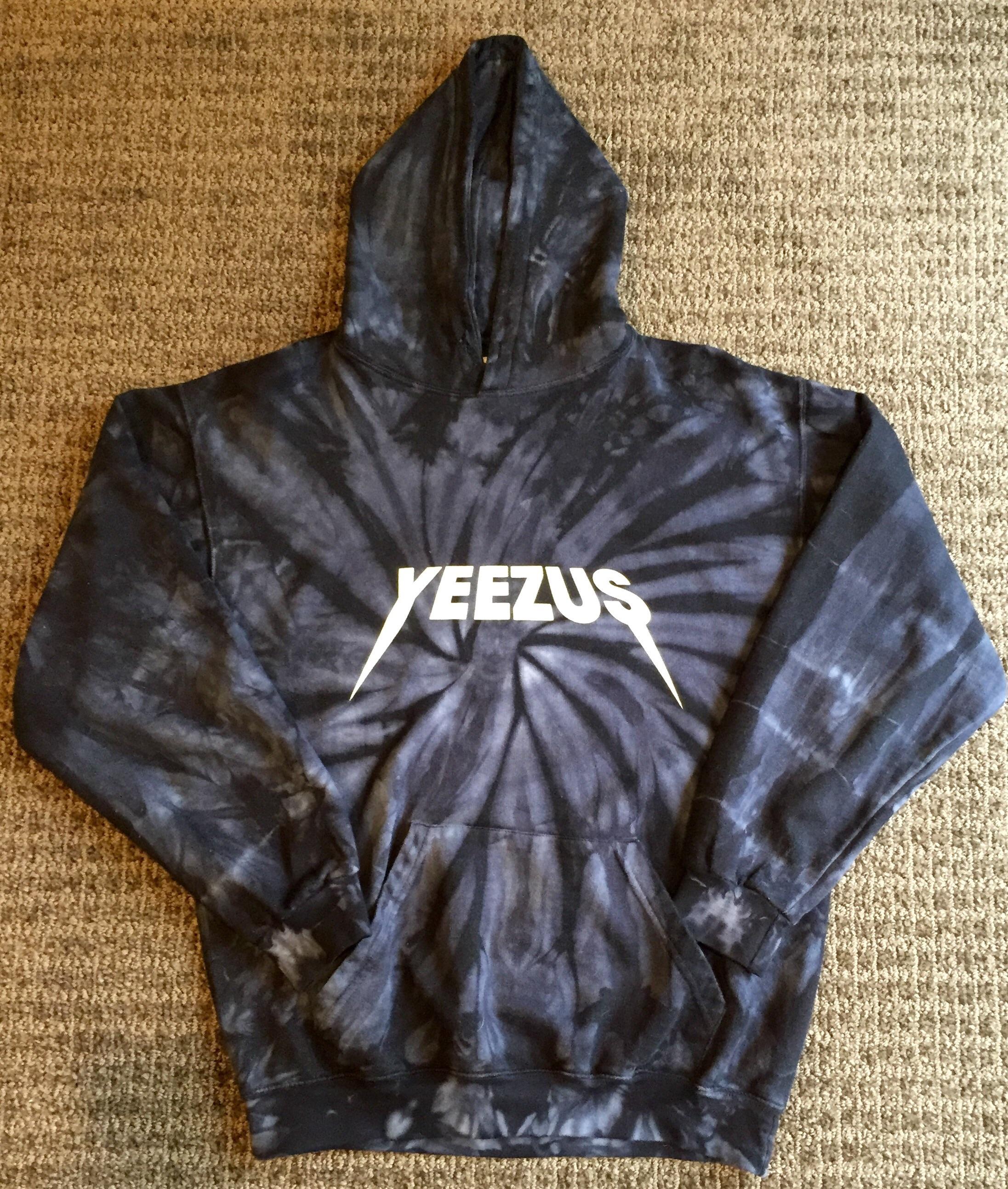 5ede11ae Kanye West Yeezus Tour Tie Dye Hoodie   Grailed