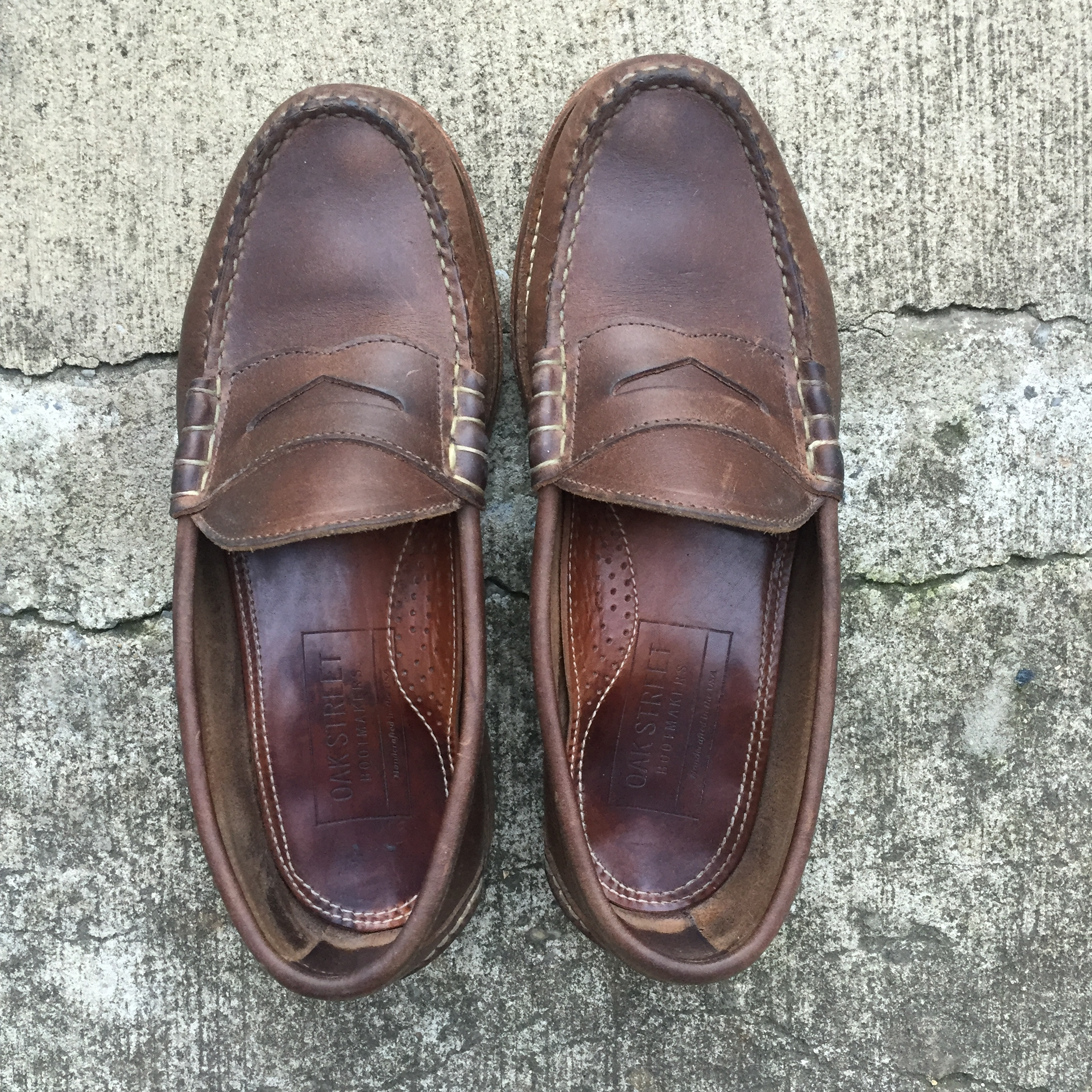 f95c6f1d930 Oak Street Bootmakers Natural Beefroll Penny Loafer