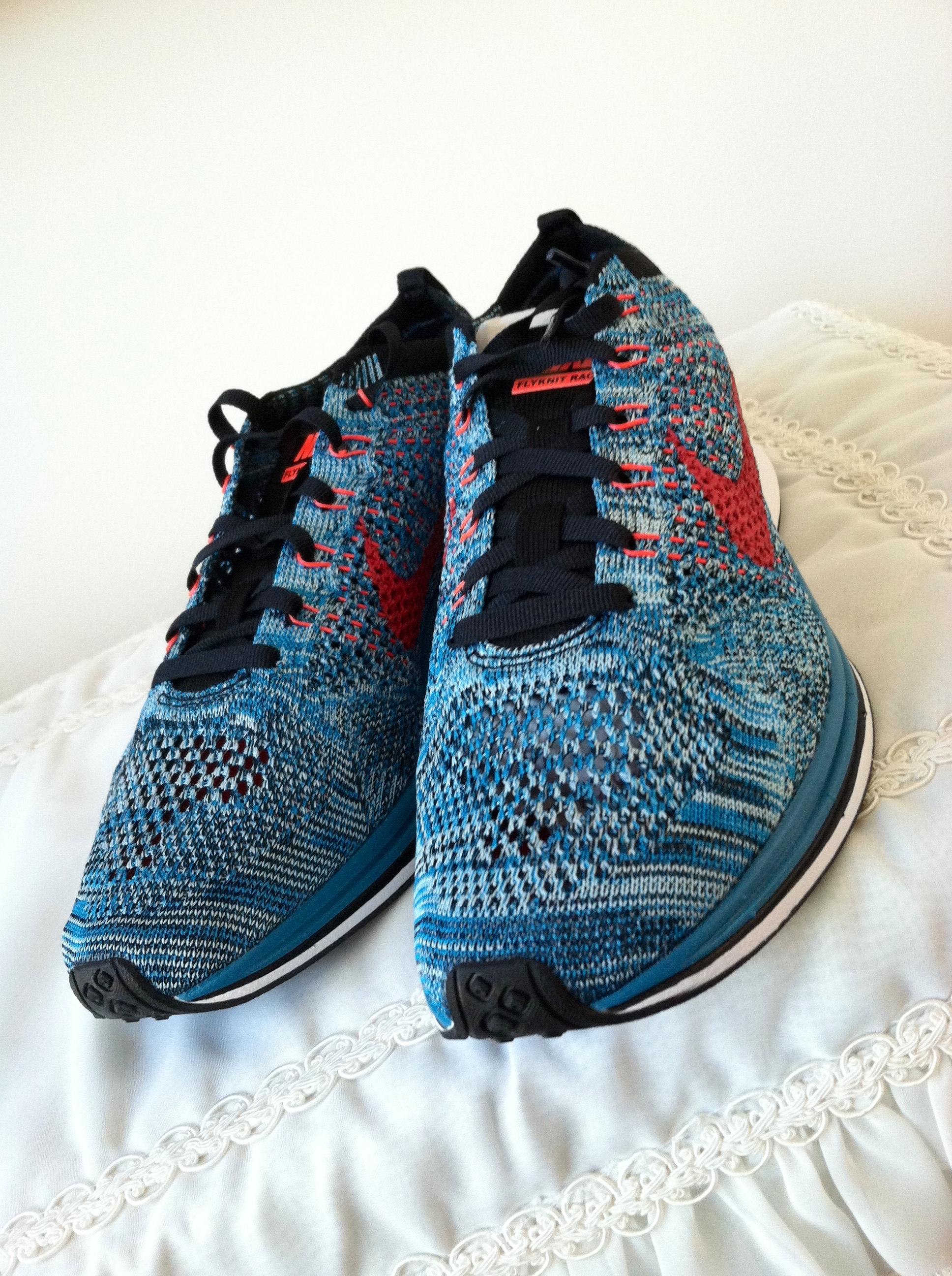 1eed66b3c07c Nike Nike Flyknit Racer Neo Turquoise Bright Crimson Glacier 526628-404  Multi Rainbow