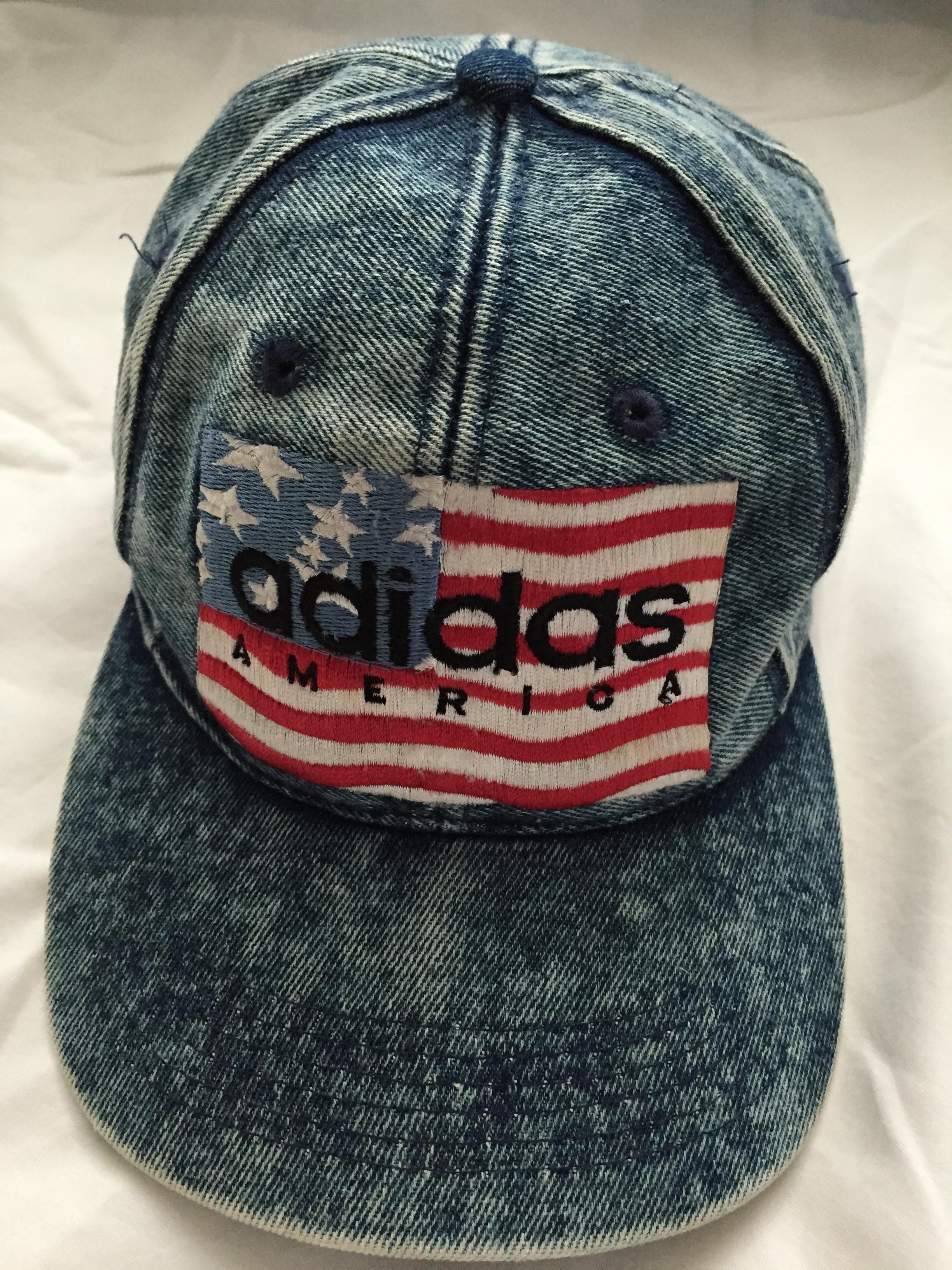 cf391569559 Adidas Vintage Adidas Denim Snapback Size one size - Hats for Sale ...