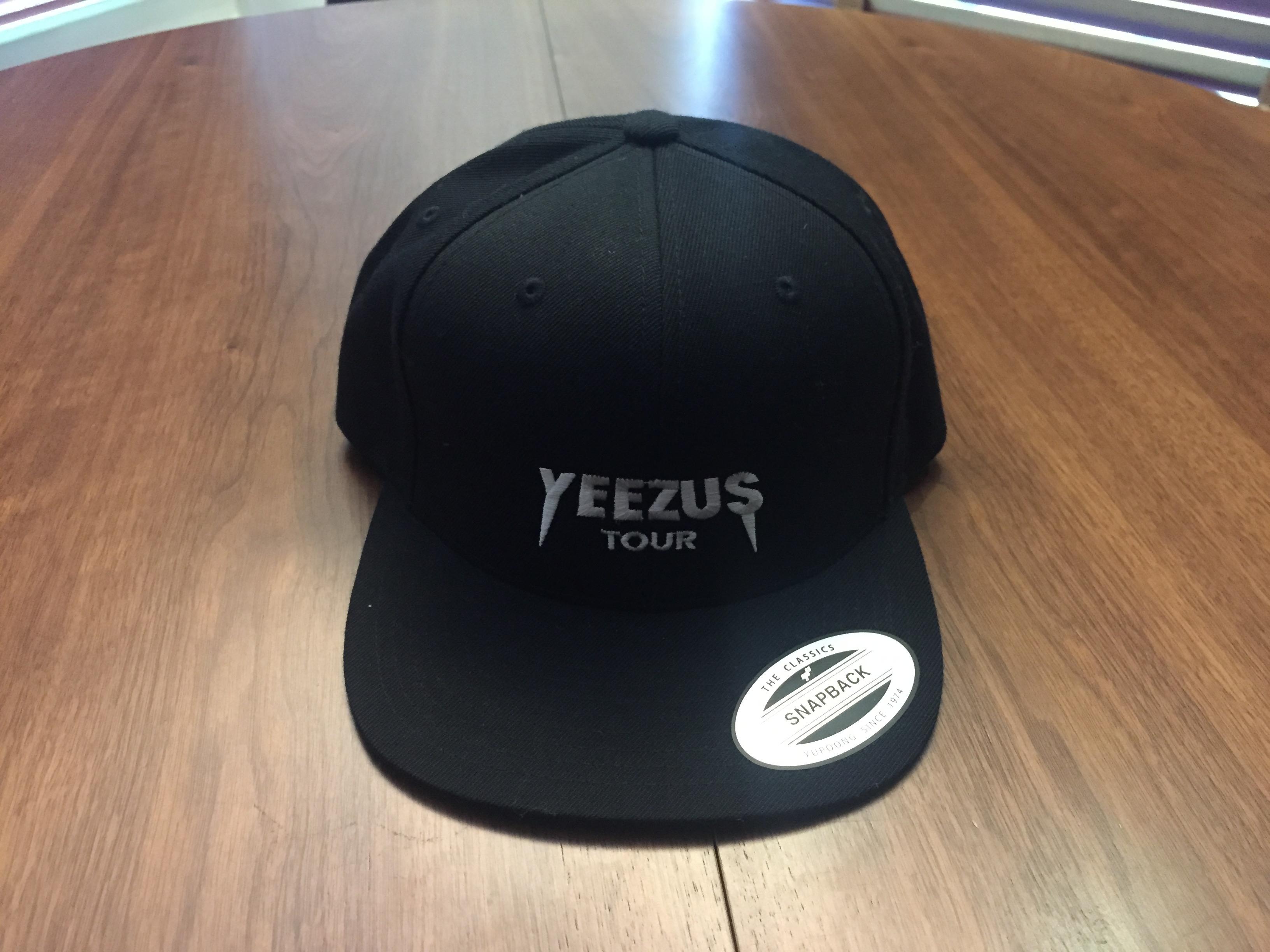 d66e8c30 Kanye West Yeezus Tour Snapback Cap Black | Grailed