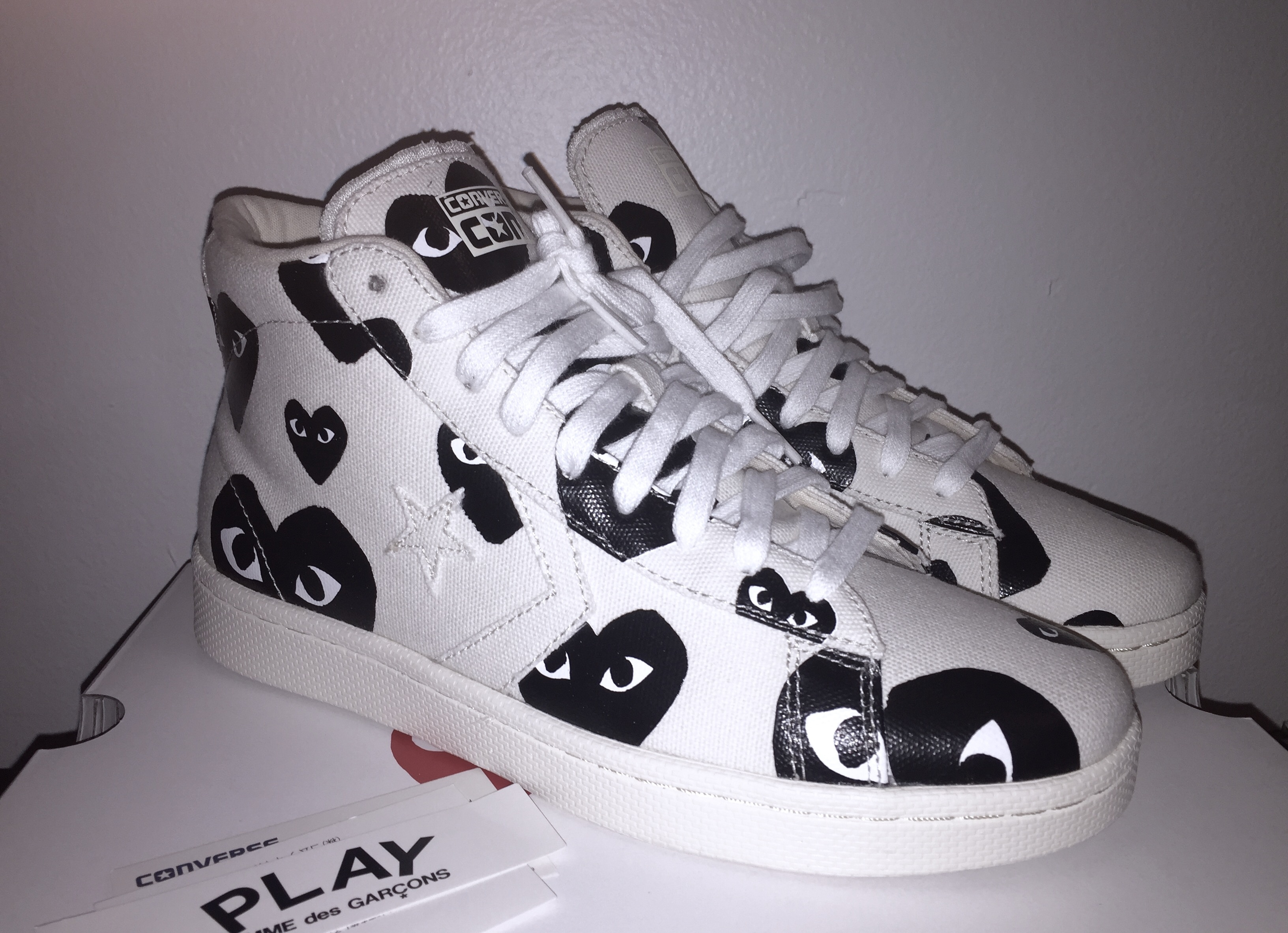 192046cc868f Comme Des Garcons Play Cdg Pro Leather Size 9 - for Sale - Grailed