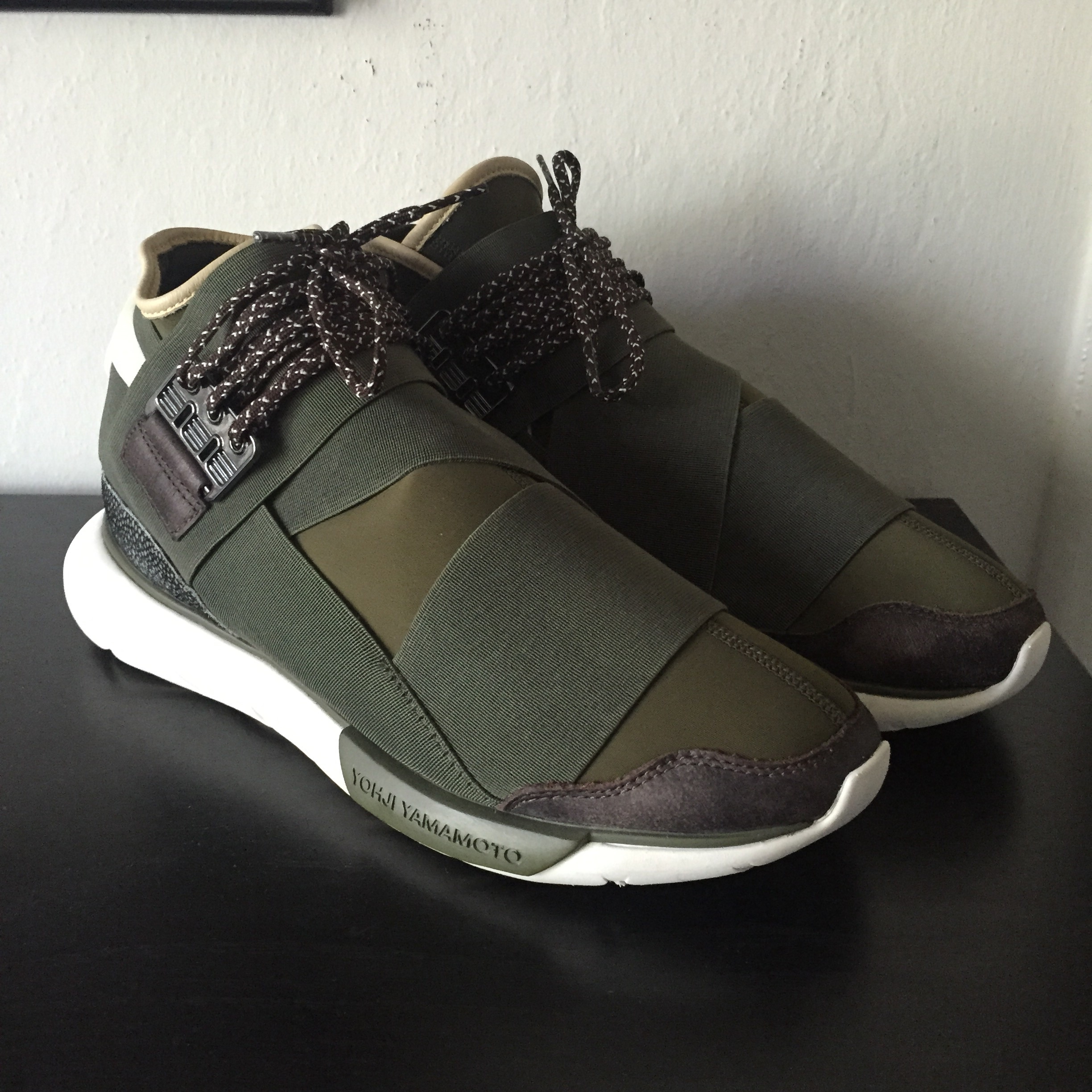 8b1dde775 Y-3 Adidas Qasa High Olive Green Size 9 - Hi-Top Sneakers for Sale ...