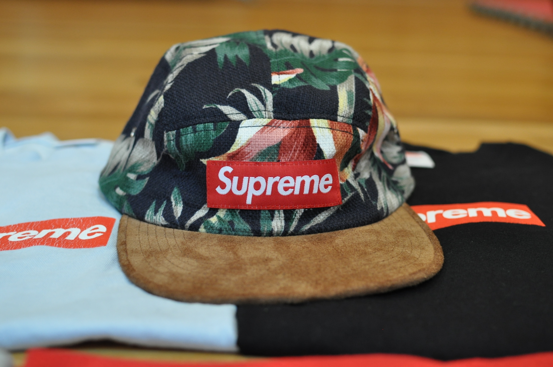 a2ccd33f608 Supreme Navy Floral Camp Cap 5 Panel