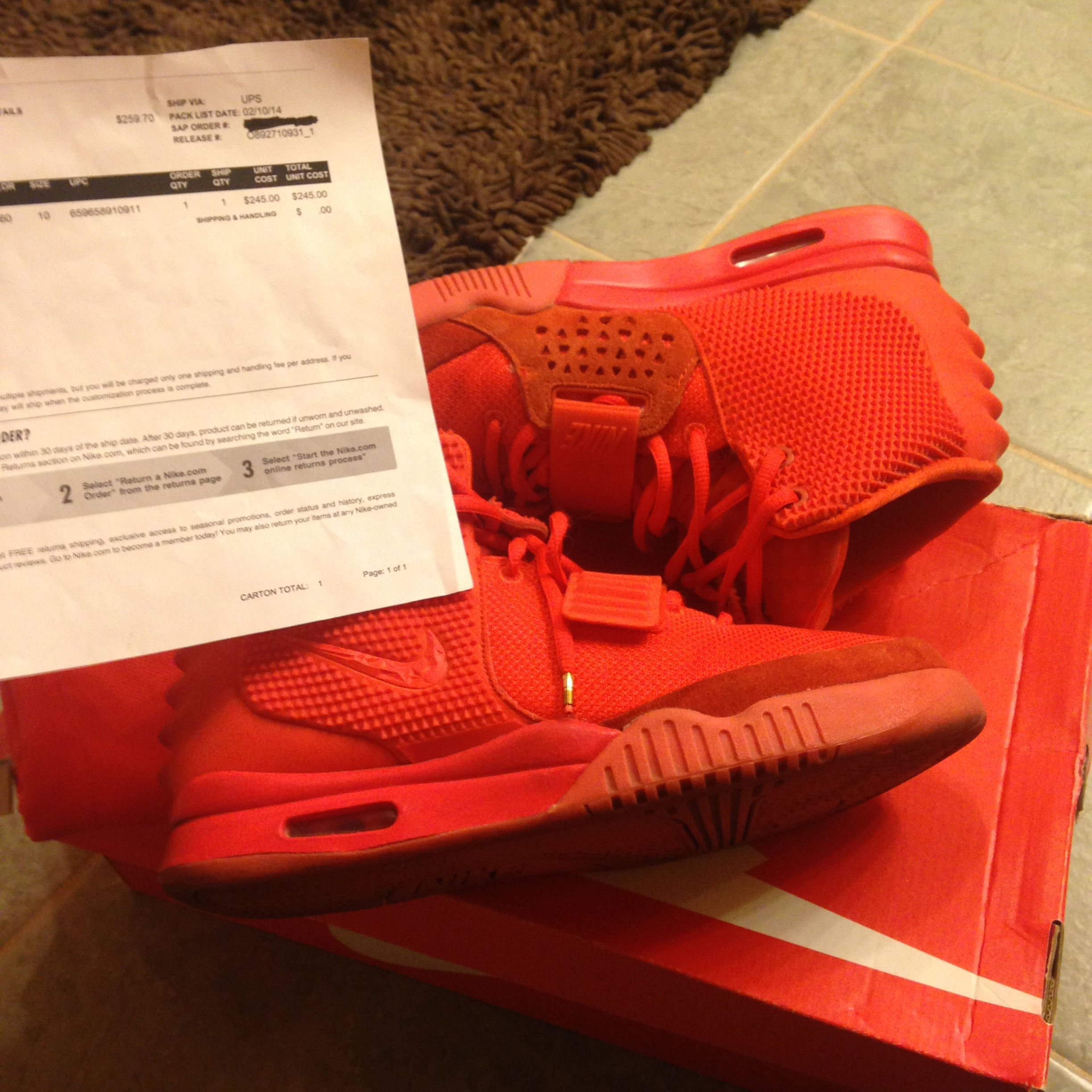 dc47a039d05c7 Nike Nike Air Yeezy 2 Red October Size 10 - for Sale - Grailed