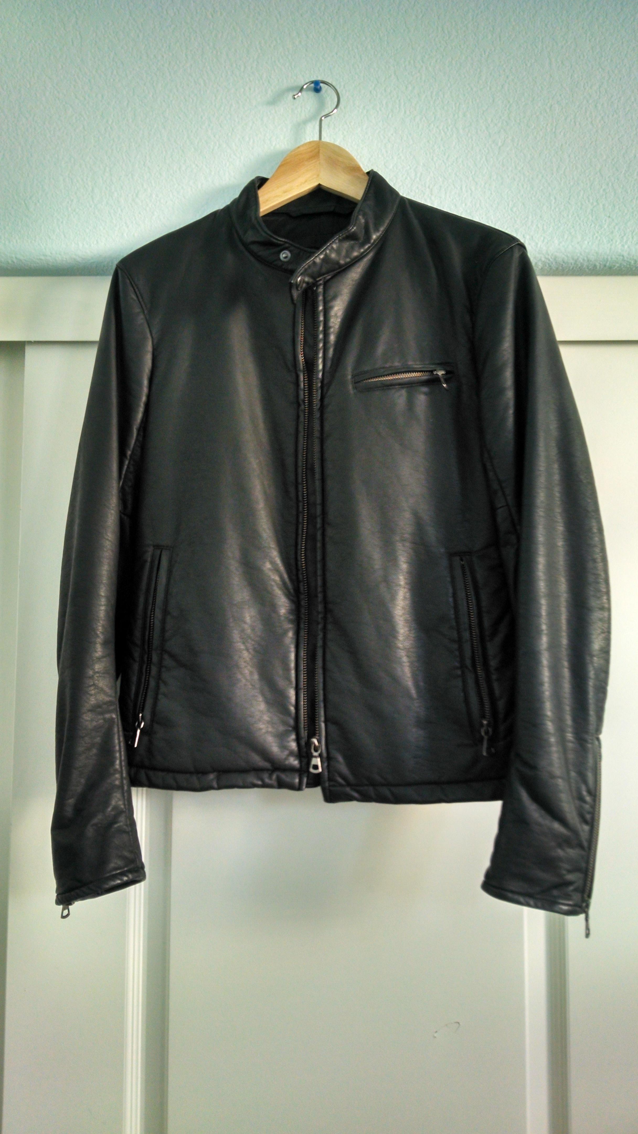 f6d1e0ae0 Uniqlo Black Faux Leather Jacket | Grailed