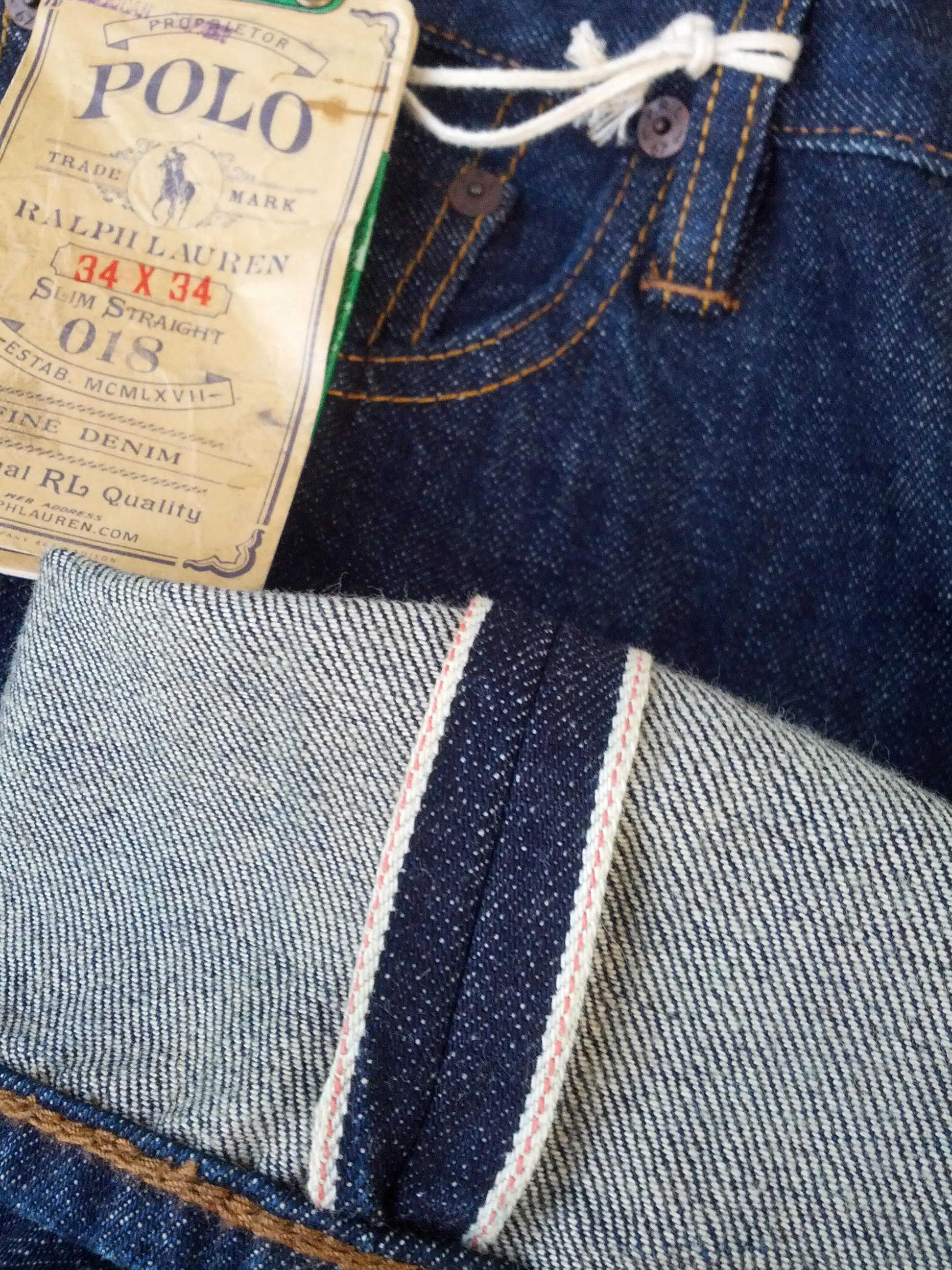 628e03291 Polo Ralph Lauren ×. Slim Straight 018 Selvedge