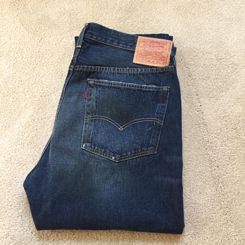 1d5a683979f Levi s Vintage Clothing New 1954 501Z Selvedge Jeans Size 36 - Denim ...