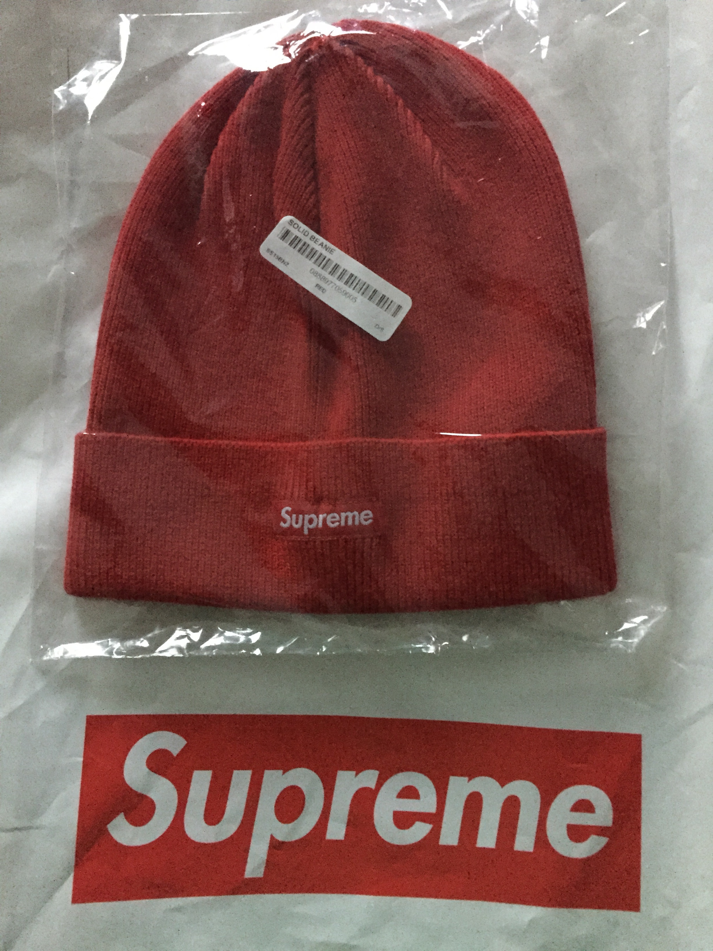 0215d55f66e Supreme Red Solid Beanie