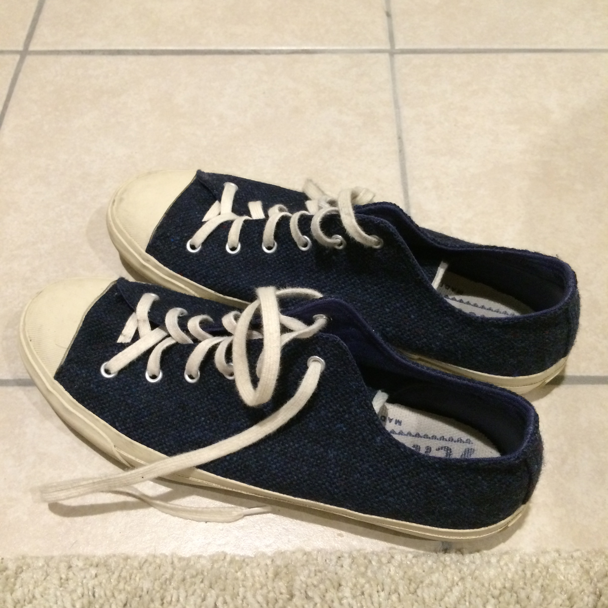 5541ce5809 The Hill-Side. Navy Sneakers