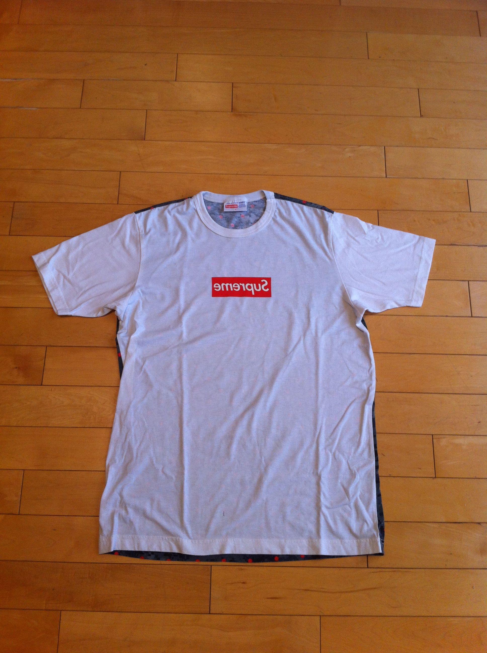 a6ddb3ee Supreme Supreme x CDG Box Logo Tee Size l - Short Sleeve T-Shirts ...