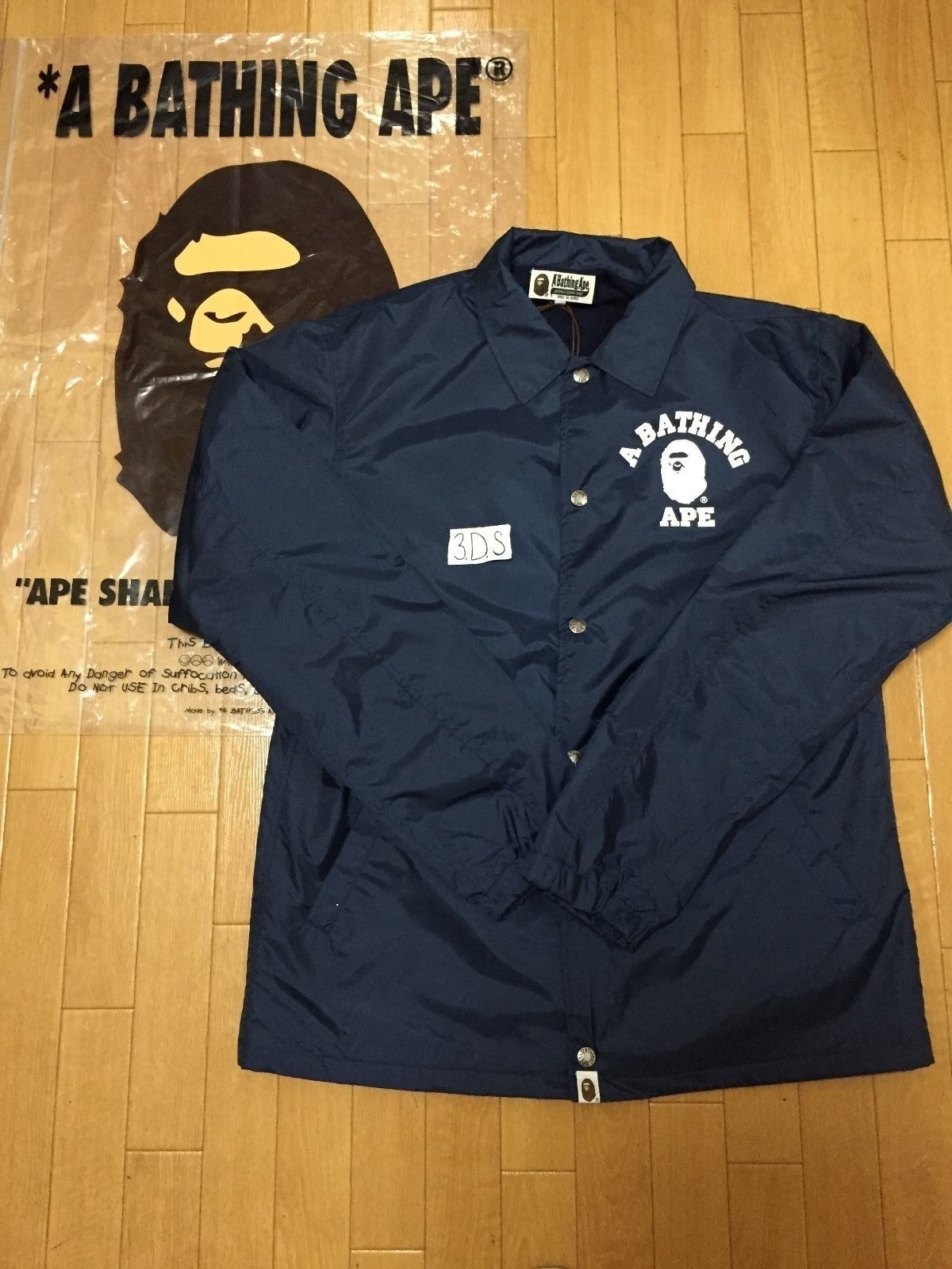 76b566246137 Bape BAPE College Coach Jacket Navy Size xl - for Sale - Grailed