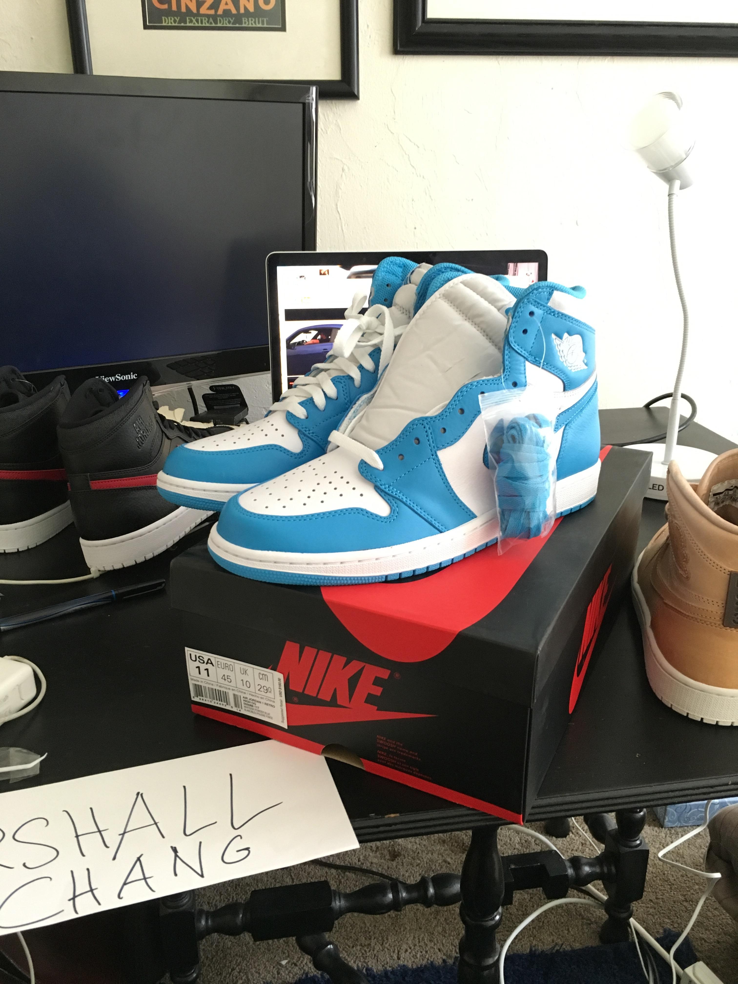 Nike Jordan 1 Unc Grailed
