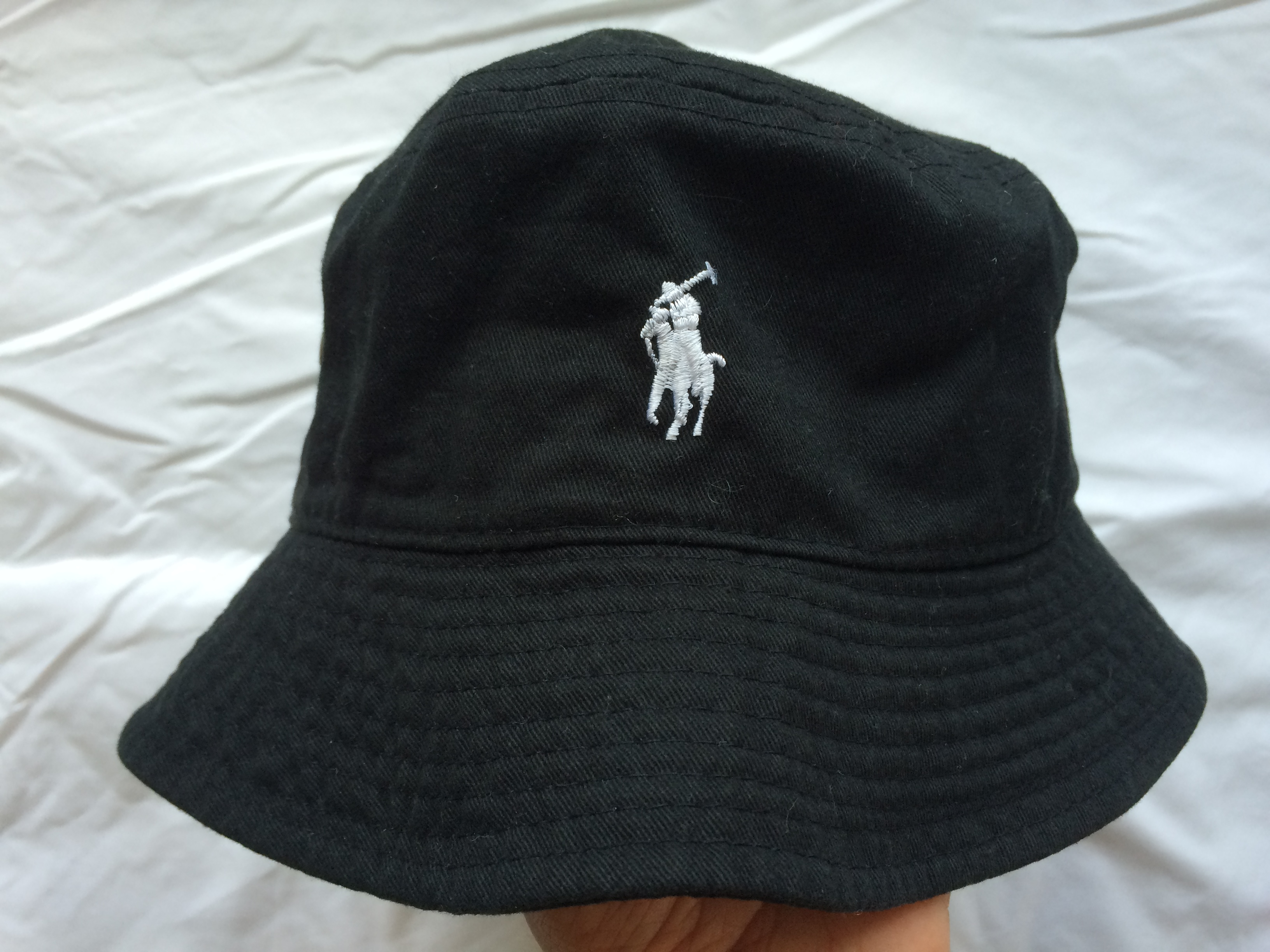 0923313119ce7 Polo Ralph Lauren Vintage Black Polo Bucket Hat Size one size - Hats ...