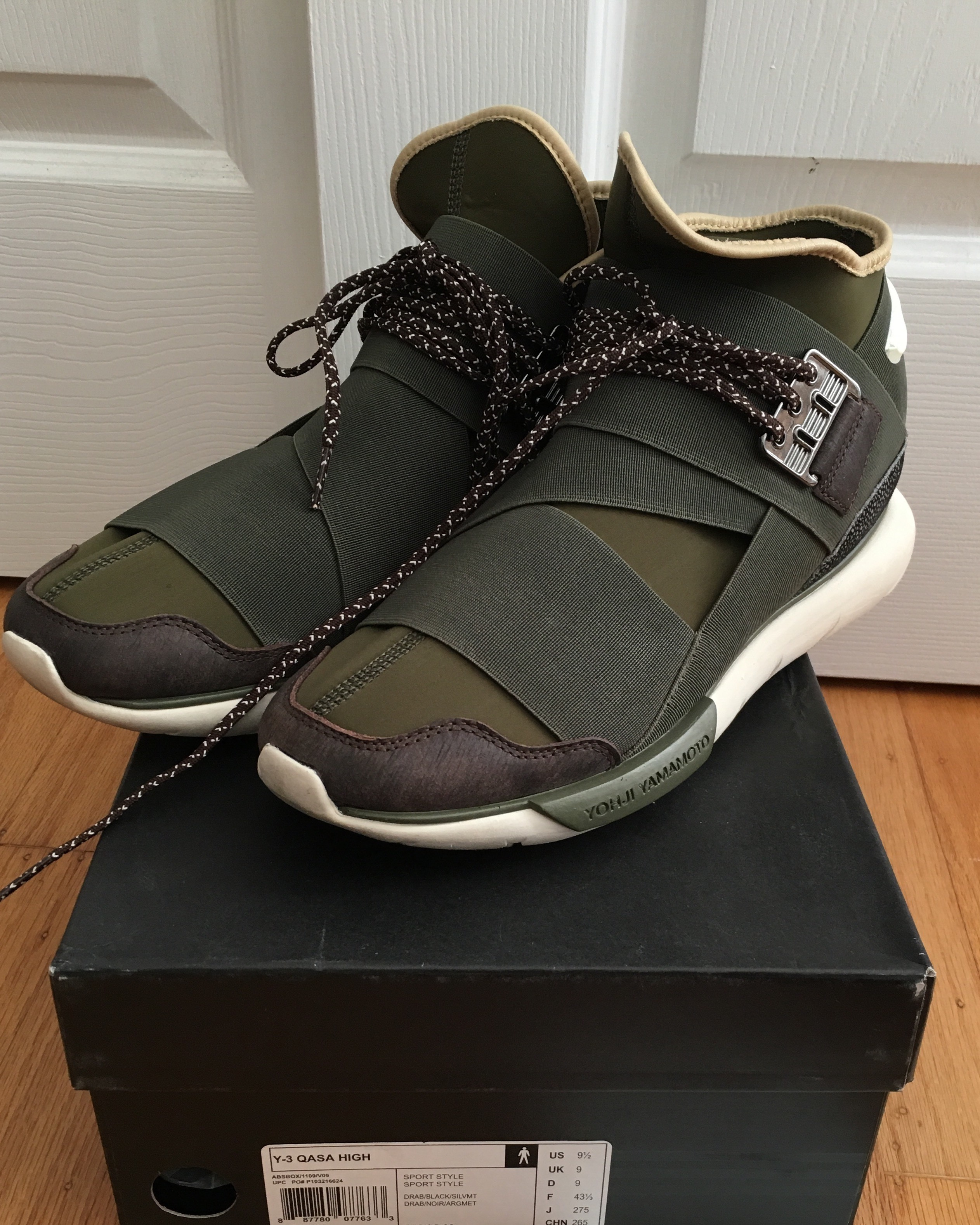 df50b03f4 Y-3 Y-3 Olive qasa high Size 9.5 - Hi-Top Sneakers for Sale - Grailed