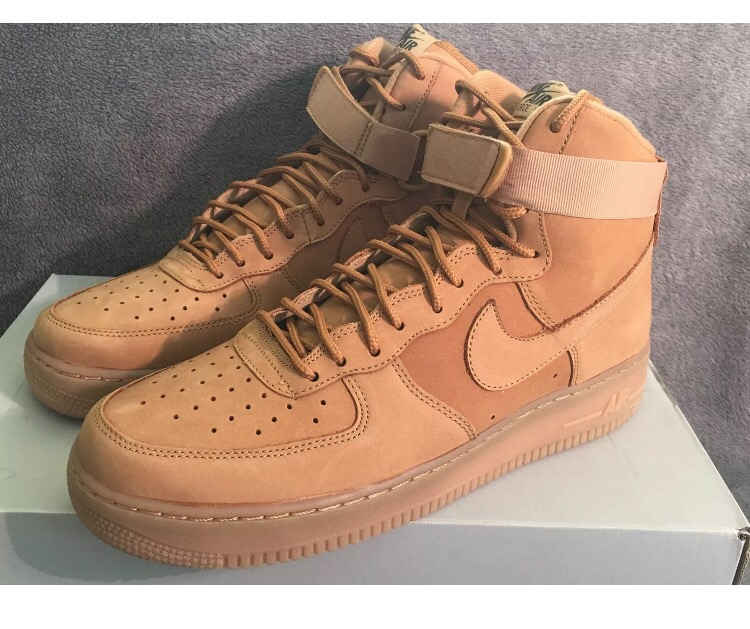 Nike Air Force 1 High '07 LV8 Flax Wheat Collection 806403 200 Size 11.5 Mens